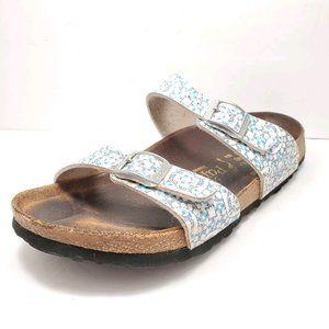 Birkenstock | Sydney Blue & White Sandals 37